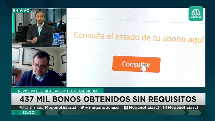 Profesor Jorge Gonzalo Torres sobre la «devolución del bono» en Meganoticias